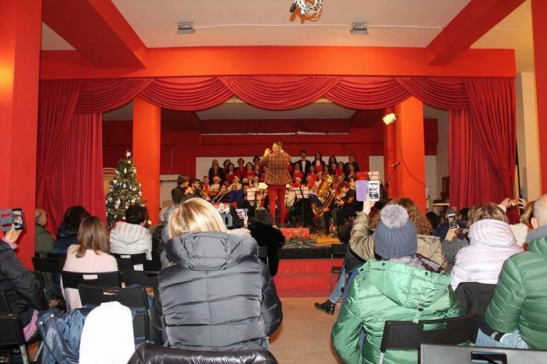 Esibizione dell'Accademia musicale nell'auditorium dedicato a Enzo Papagni