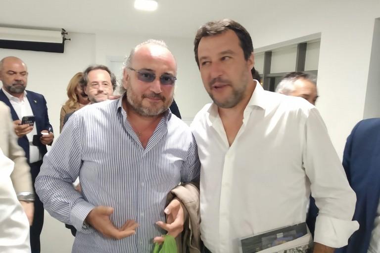 Matteo Salvini con Rocco Prete