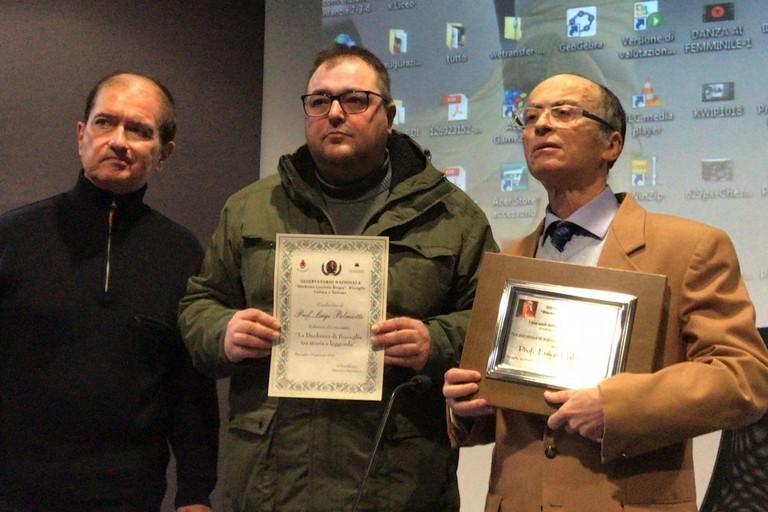 Antonio Speranza e i professor Grosso e Palmiotti