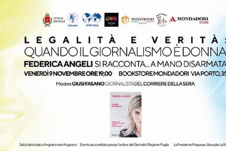 Federica Angeli presenta il suo libro a Bisceglie