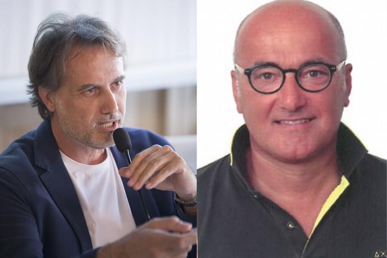 L'architetto Arcangelo Ficco e l'ingegnere Sabino Mansi