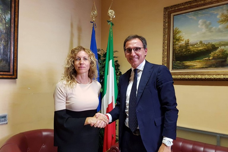 Passaggio di consegne al ministero degli affari regionali tra Erika Stefani e Francesco Boccia