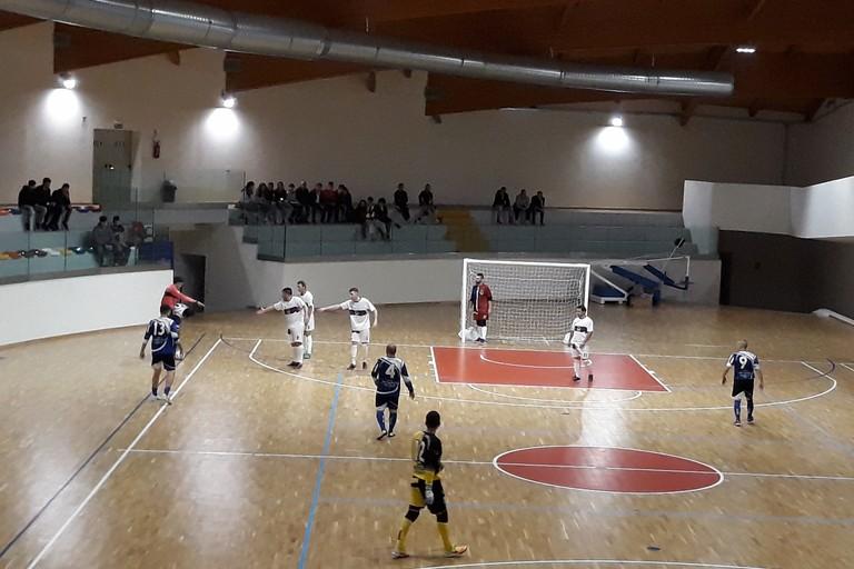Un'istantanea del match di Coppa Puglia al PalaFiori. <span>Foto Nico Colangelo</span>