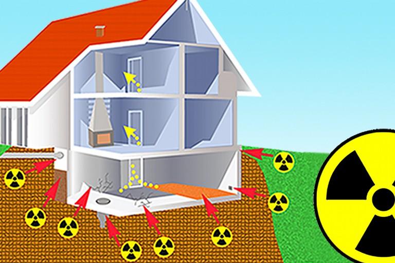 Simulazione della dinamica di diffusione del gas radon su uno stabile