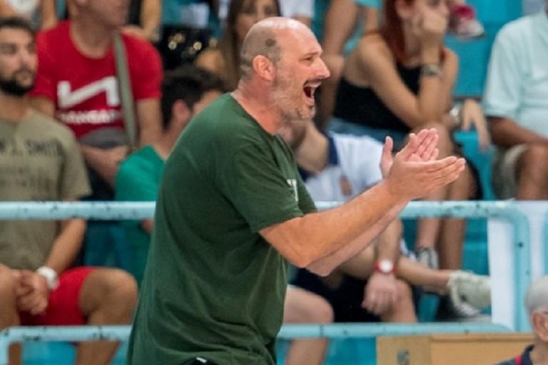 La grinta di coach Gigi Marinelli. <span>Foto Sara Angiolino</span>