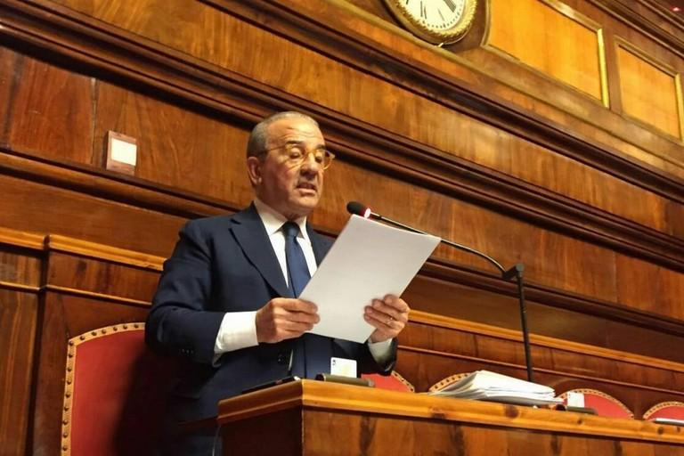 Il senatore uscente Gino Perrone