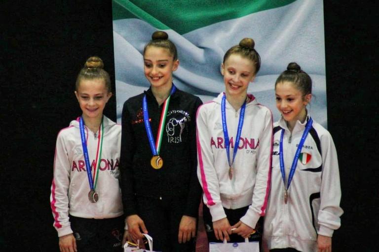 Giorgia Cuomo oro nella categoria Allieve 3-4