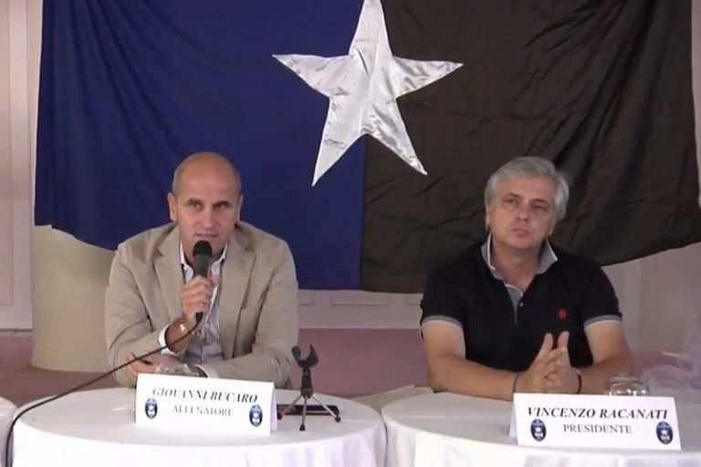 Mister Giovanni Bucaro col presidente Racanati