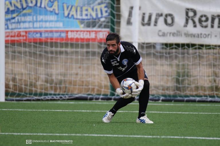 Giovanni Lullo, portiere dell'Unione Calcio Bisceglie