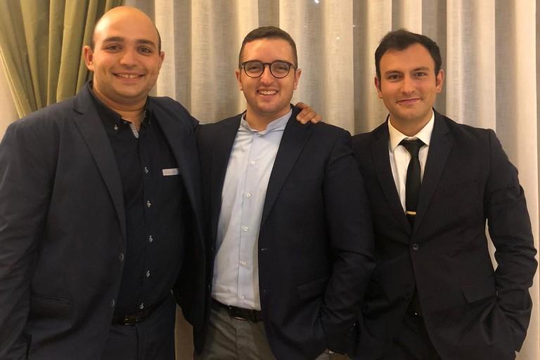 Da sinistra Silvio Caldarola, Felice Musto e Michele Piazzolla