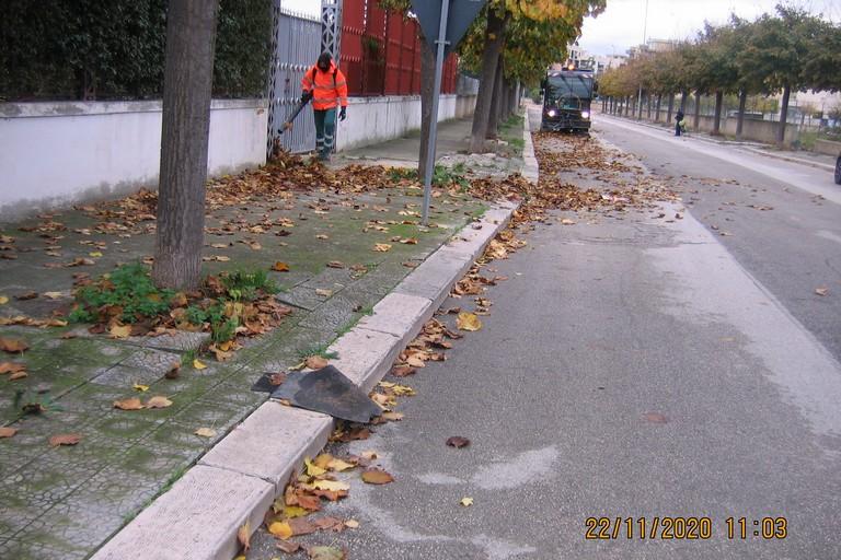 Spazzamento di una strada