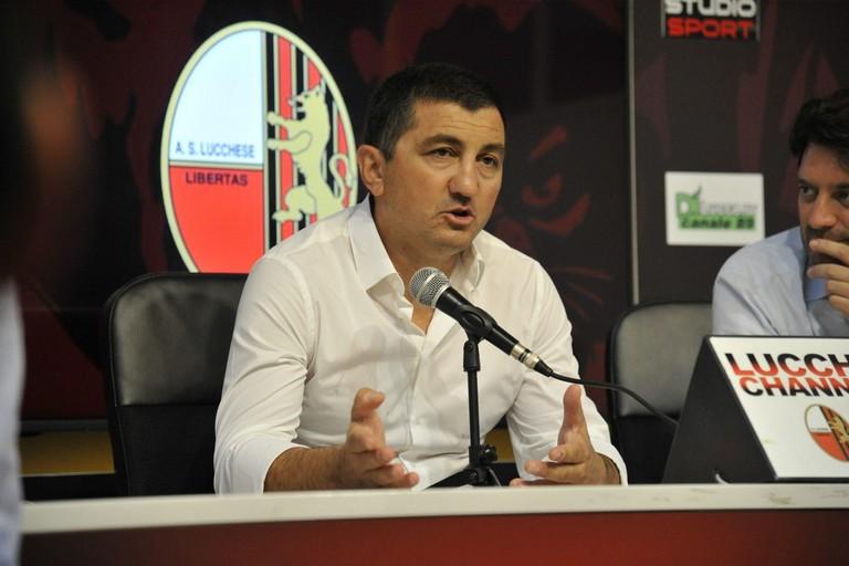 Il direttore sportivo della Lucchese Antonio Obbedio. <span>Foto Sport Avellino</span>