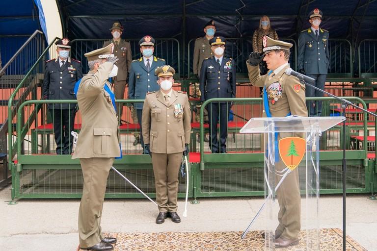 Il Generale Gagliano (a destra) e il Generale Antoci (a sinistra)