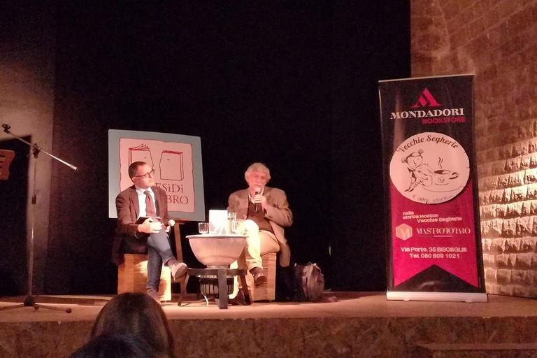 Giovanni Bianconi alle Vecchie Segherie. <span>Foto Cristina Scarasciullo</span>