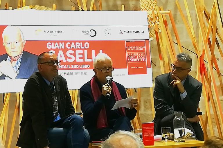 Giancarlo Caselli, ospite delle Vecchie Segherie. <span>Foto Cristina Scarasciullo</span>