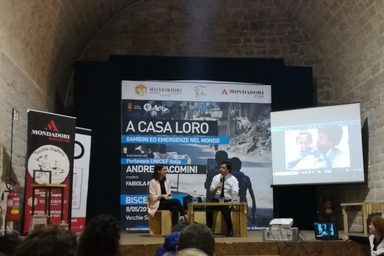 Andrea Iacomini alle Vecchie Segherie. <span>Foto Cristina Scarasciullo</span>