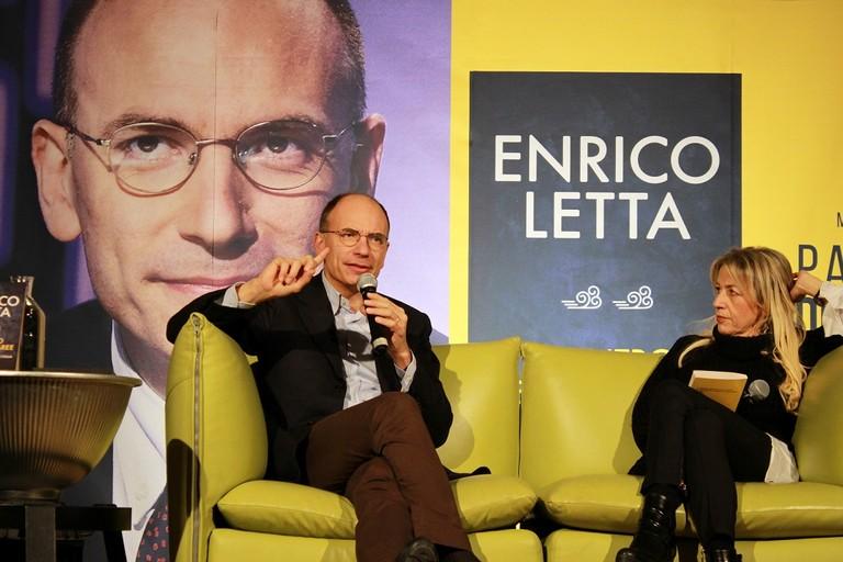 Enrico Letta alle Vecchie Segherie Mastrototaro. <span>Foto Vito Troilo</span>