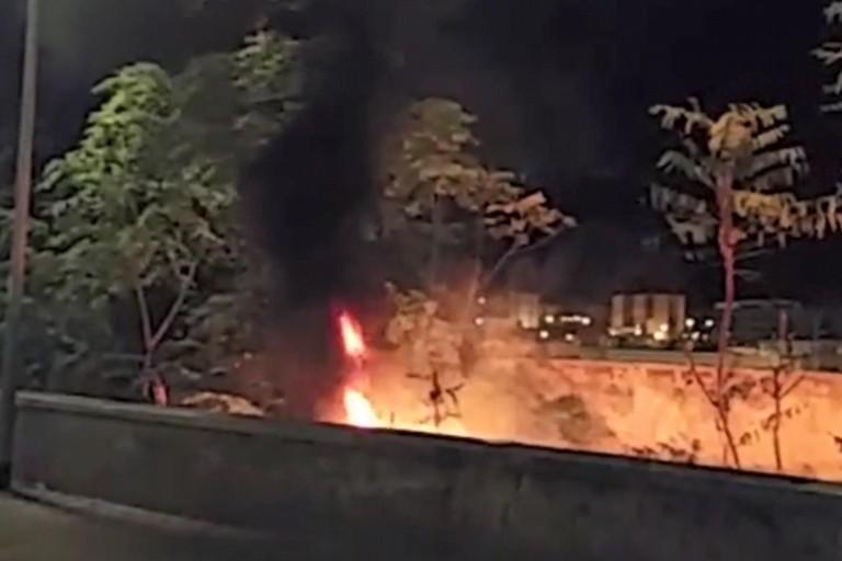 Incendio in vico primo Fragata. <span>Foto Bisceglieviva</span>