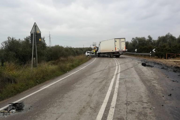 Incidente mortale sulla provinciale Bisceglie-Andria. <span>Foto Bisceglieviva</span>