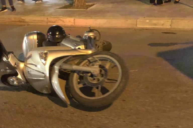 Lo scooter Piaggio Liberty coinvolto nel sinistro