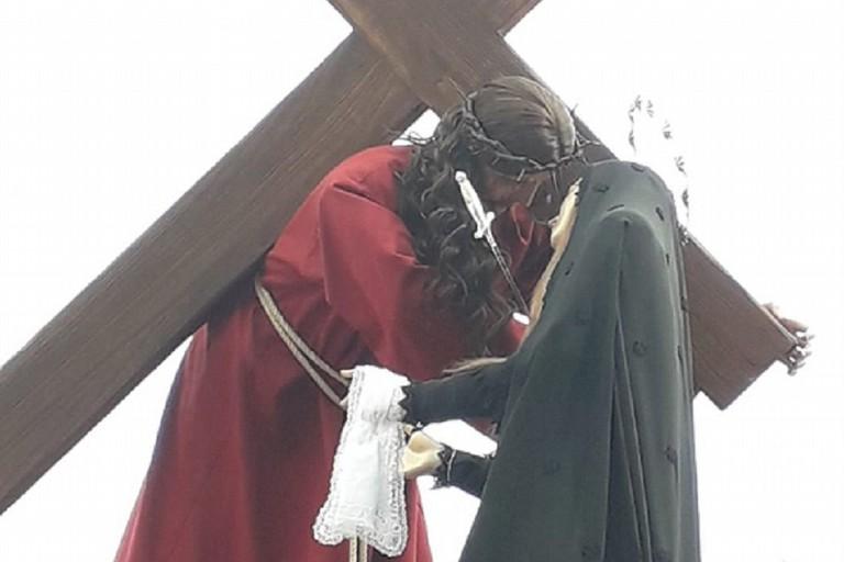 Incontro del Venerdì Santo. <span>Foto Aurora Marinelli</span>