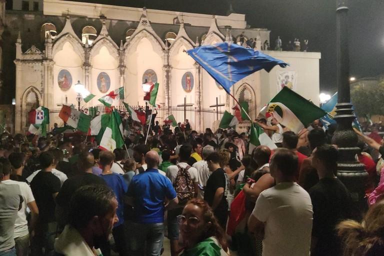 L'Italia trionfa agli Europei, tripudio per le strade di Bisceglie. <span>Foto Antonio Lopopolo</span>
