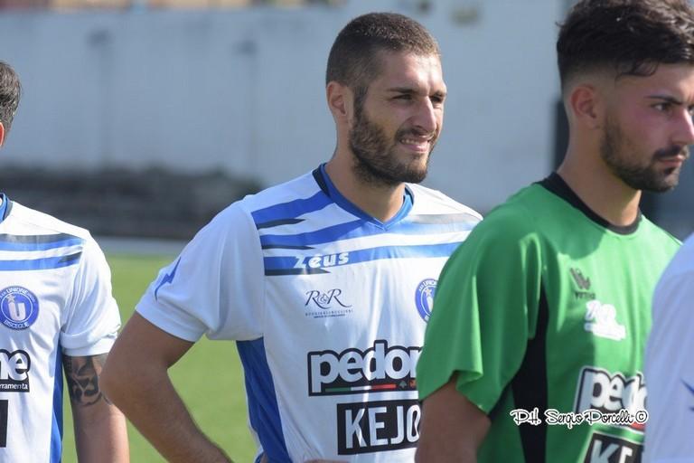 Luigi Zinetti, centrocampista dell'Unione calcio Bisceglie. <span>Foto Sergio Porcelli</span>