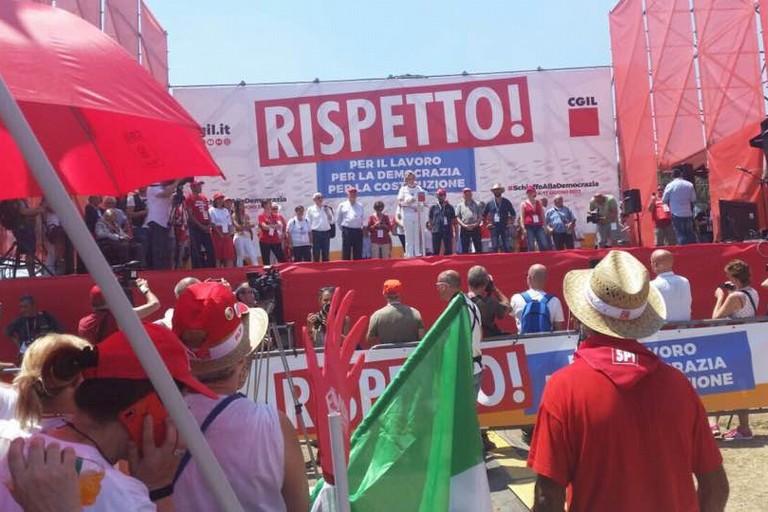 Manifestazione Cgil a Roma contro i