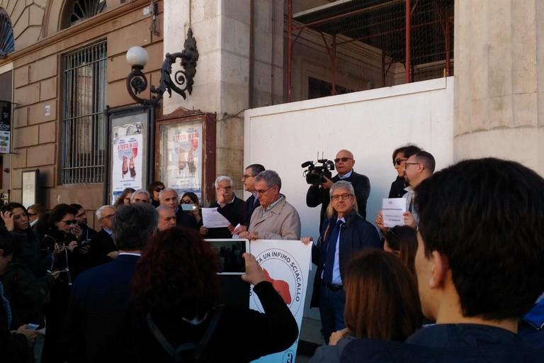 Manifestazione dei giornalisti a Bari
