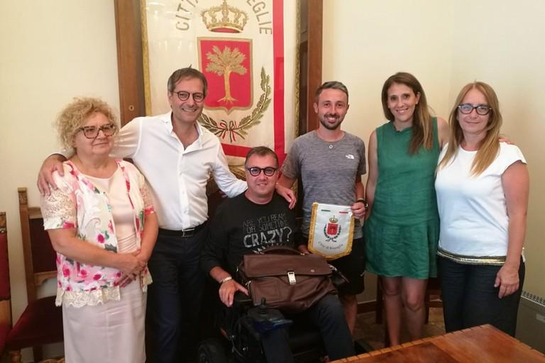 Marco Togni ricevuto a Palazzo di città dal sindaco Angarano