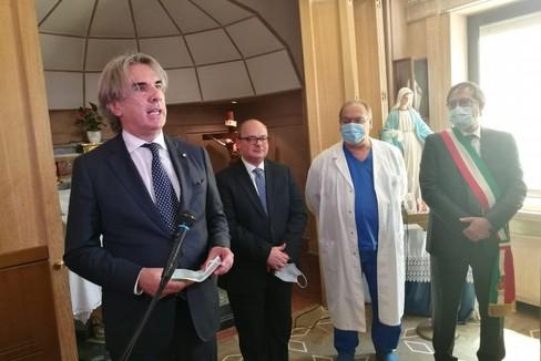 2 giugno, il discorso del Prefetto Valiante all'ospedale di Bisceglie