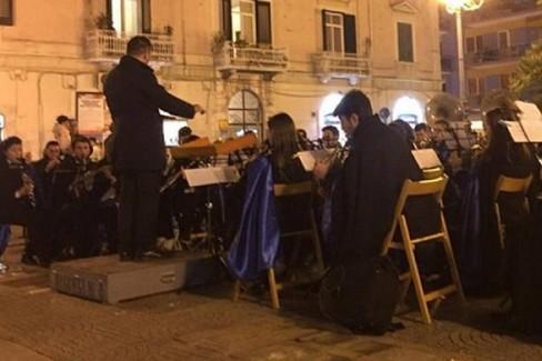 Concerto di marce funebri della Biagio Abbate. <span>Foto BisceglieViva</span>