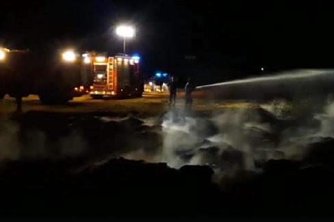 Incendio in via Crosta