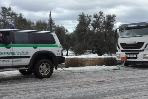 Neve sulla Bisceglie-Ruvo-Corato: il soccorso agli autotrasportatori