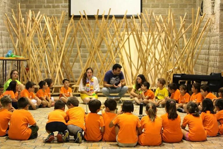 Laboratorio musicale a cura di Notturno onlus per i bambini di Estate & sport