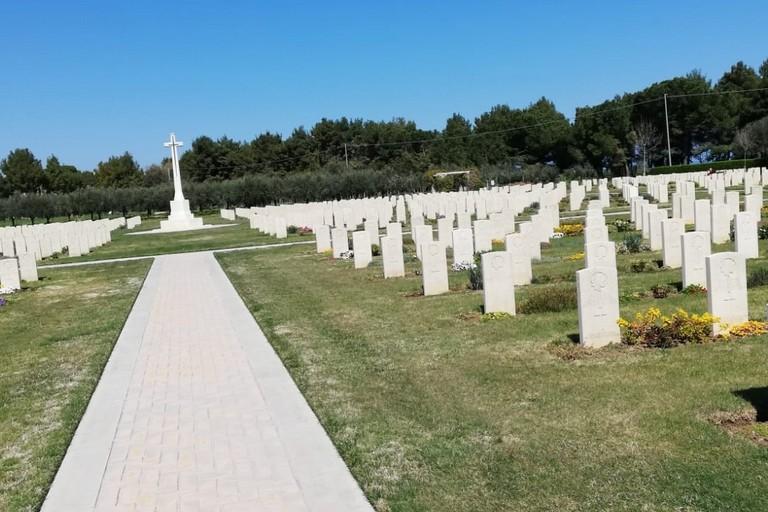 Il cimitero dei soldati canadesi a Ortona
