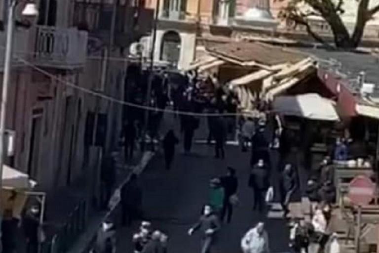 Un frame del video diffuso nella mattinata di sabato 28 marzo