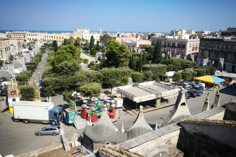 Vista di piazza Vittorio Emanuele II dal campanile della chiesa di San Lorenzo