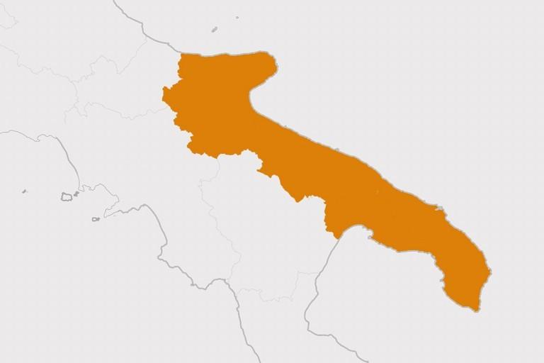 Puglia in zona arancione