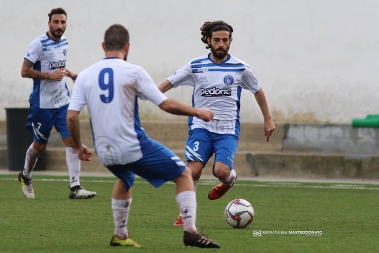 Sergio Quercia, difensore dell'Unione Calcio Bisceglie (Foto Emmanuele Mastrodonato)