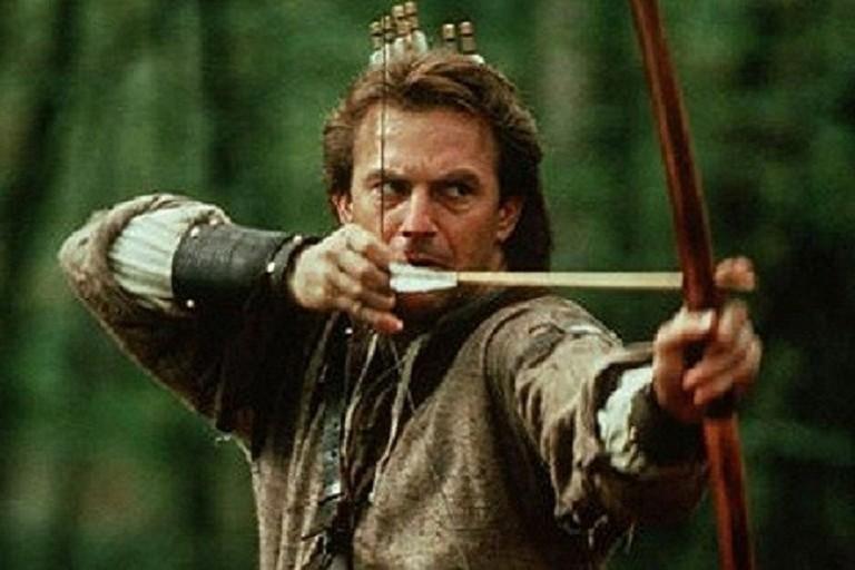 Kevin Costner nel ruolo di Robin Hood