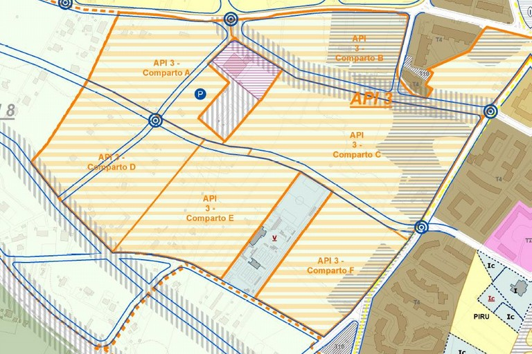 Schema dell'ambito di primo impianto 3 tra via Andria e via Vecchia Corato