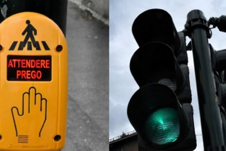 Esempio di impianto semaforico per non vedenti