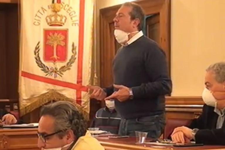 Francesco Spina in consiglio comunale