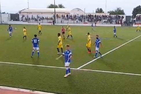 Una fase del match tra Nuova Spinazzola e Don Uva