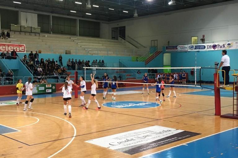 Un'azione del match Sportilia-Cutrofiano