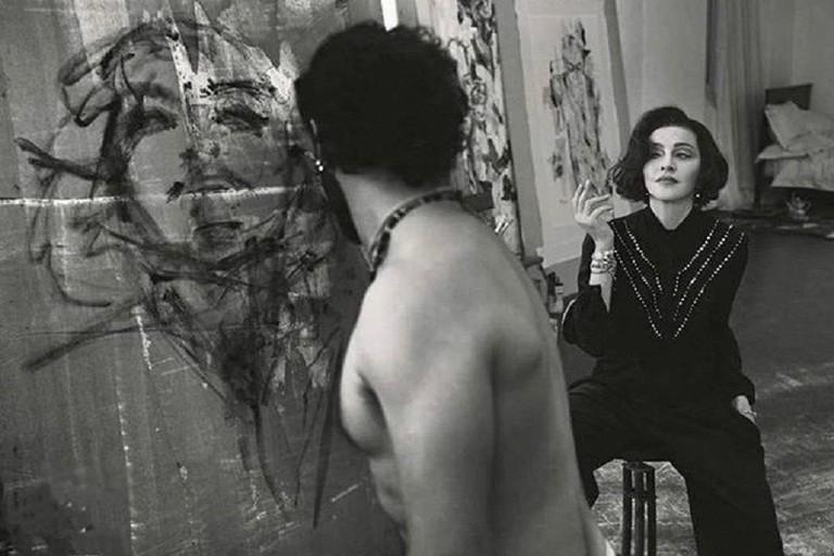 La popstar Madonna posa per un ritratto del biscegliese Tony Cassanelli