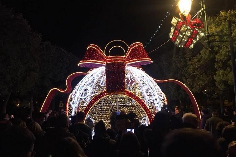 Luminarie in centro a Trani