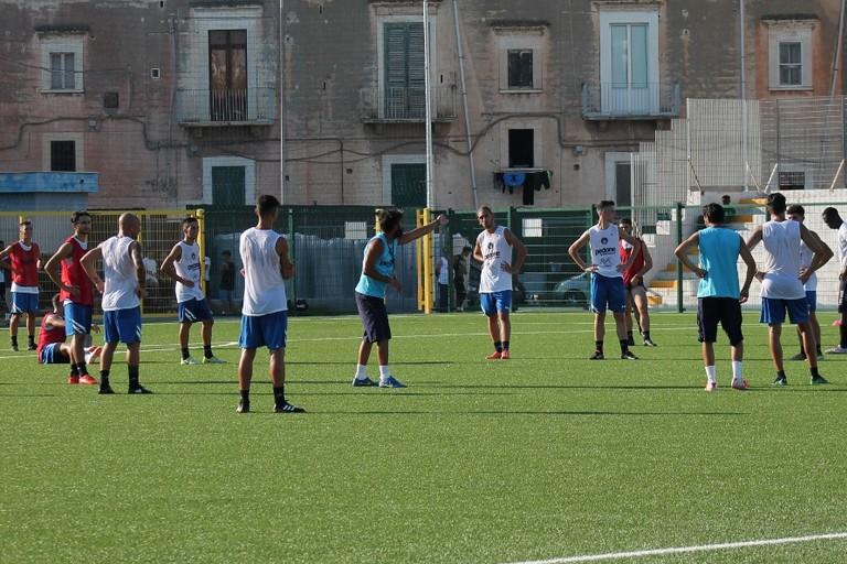 Primo allenamento dell'Unione Calcio Bisceglie