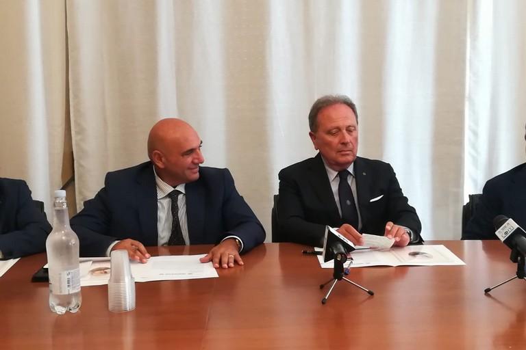 Antonio Felice Uricchio e Paolo Telesforo. <span>Foto L'attacco</span>